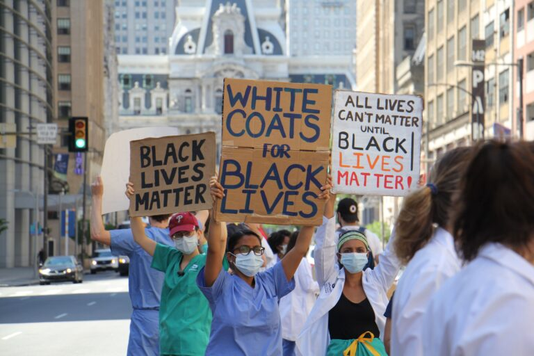Protesters rally against healthcare inequality
