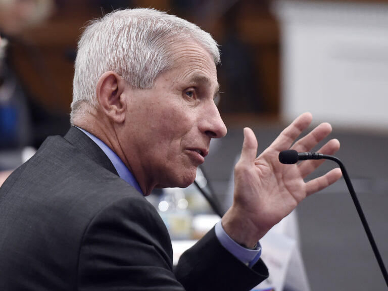 Anthony Fauci, director of the National Institute of Allergy and Infectious Diseases is pictured testifying in March on Capitol Hill. He and others leading the federal coronavirus response testify before the House Energy and Commerce Committee on Tuesday.