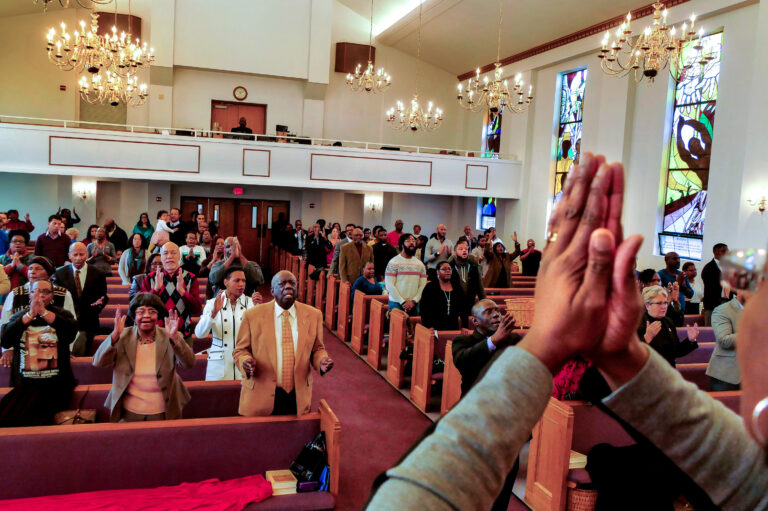 Evangelical Christians traditionally focus on individual sin and salvation. But some are taking a wider view when it comes to addressing systemic racism. (Reza/Getty Images)