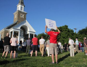 Hundreds gather at Oxford Presbyterian Church in Northwest Philadelphia for an interfaith vigil