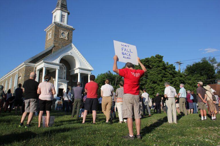 Hundreds gather at Oxford Presbyterian Church in Northwest Philadelphia for an interfaith vigil
