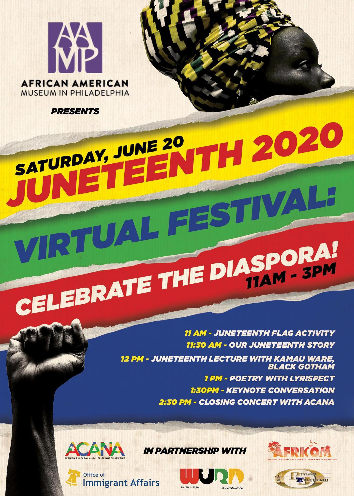 Juneteenth 2020 Virtual Festival: Celebrate the Diaspora!