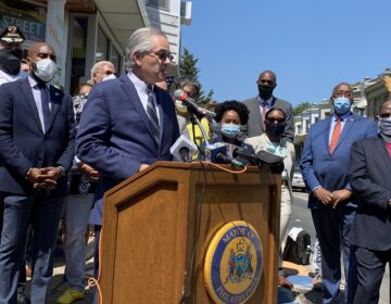 Philadelphia District Attorney Larry Krasner (Aaron Moselle / WHYY)