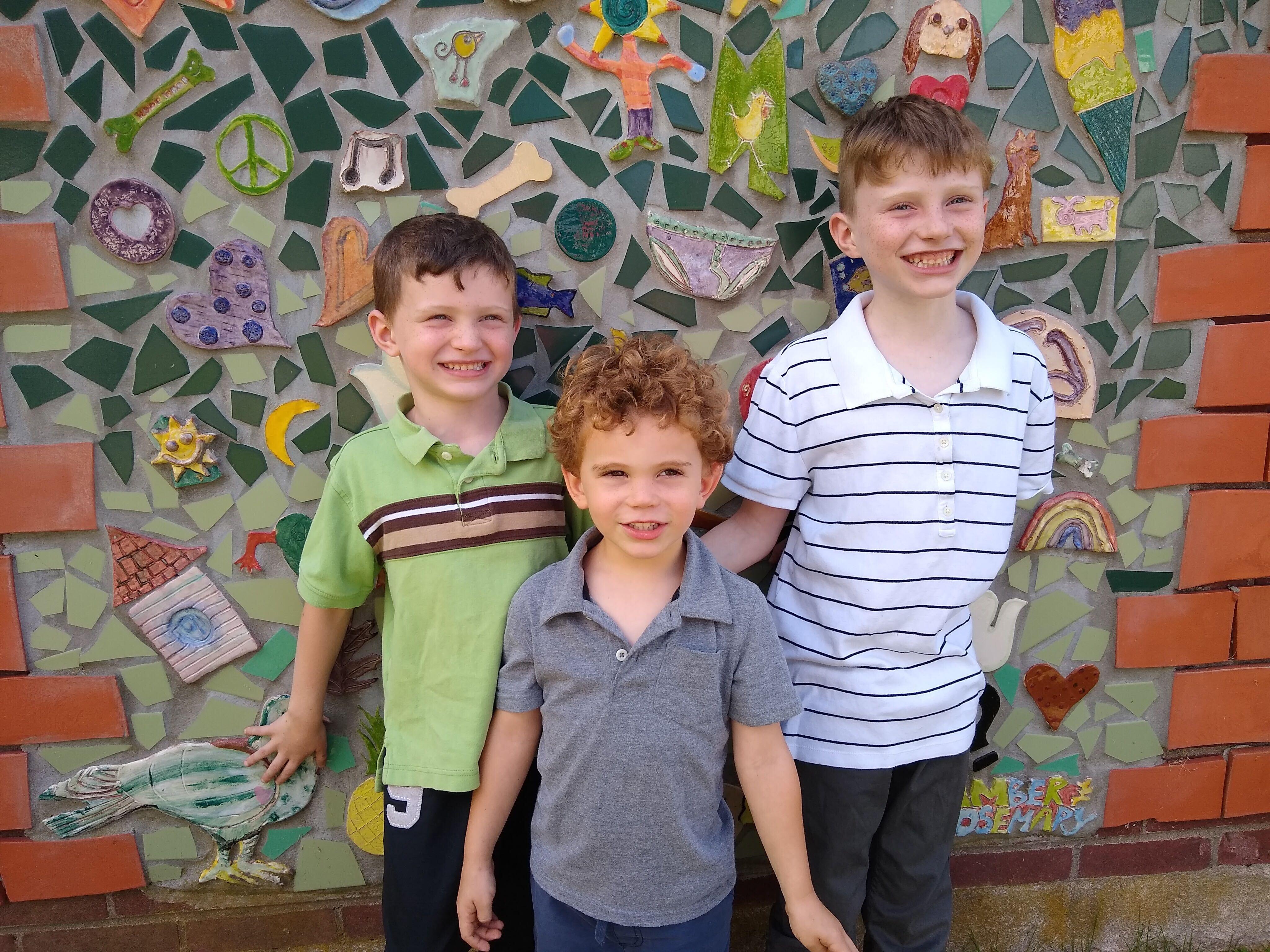 Laura Hoover's children, Nathan, Austin and Wyatt