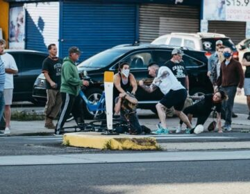 Matthew Williams said one of the men in the group knocked him off his bike as he rode home. (Photo by Chad Butler)