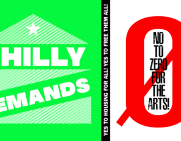 A 'No to Zero' graphic protesting Mayor Kenney's budget proposal to eliminate the city's art office