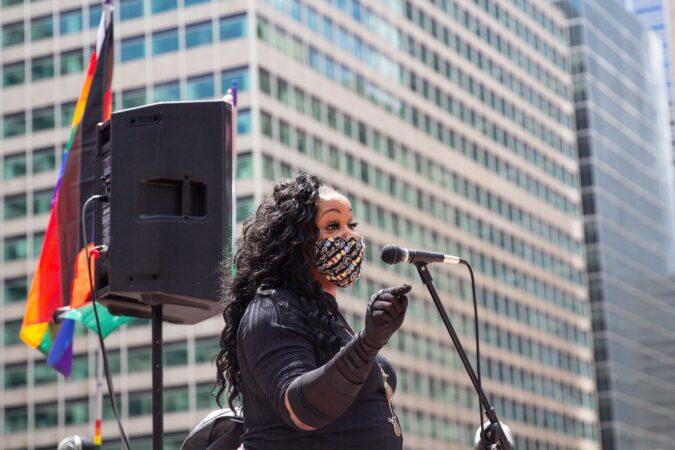 Madelyn Morrison at Queer March for Black Lives