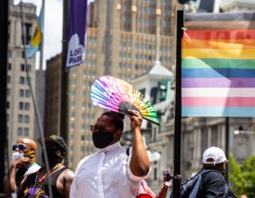 Rev. Andrea Lamour-Harrington at Queer March for Black Lives