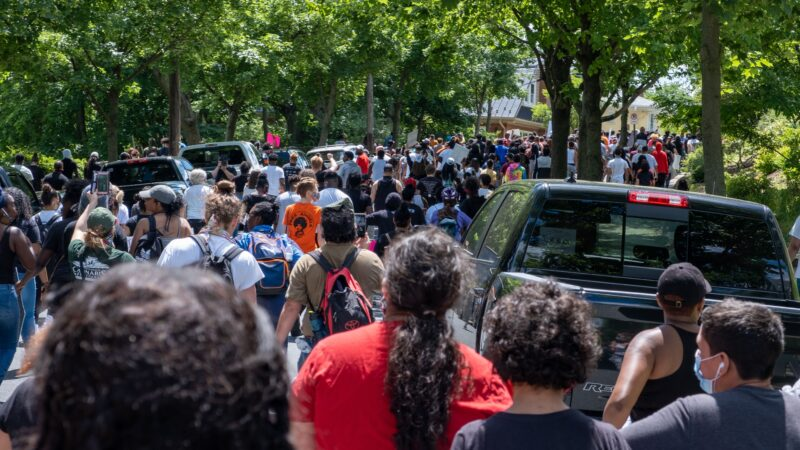 Scenes from solidarity protests in Reading, Pennsylvania. (Tyler Washington)