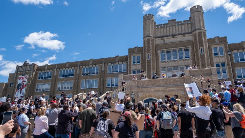 Scenes from solidarity protests in Reading, Pennsylvania.