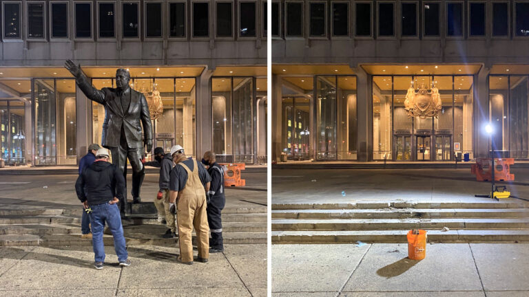 Frank Rizzo statue removed
