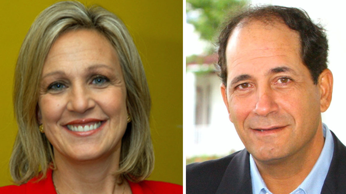 Assemblywoman Valerie Vainieri Huttle and Sen. Joseph Vitale