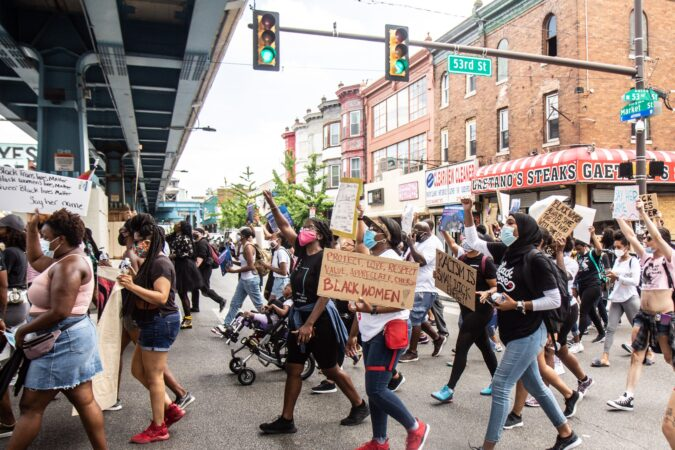 Black women led the Say Her Name march Saturday