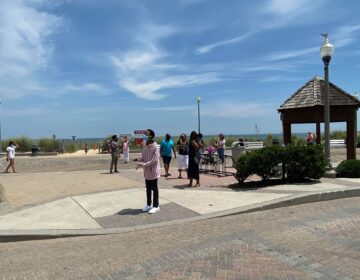 Crowds were sparse Thursday on the Rehoboth Beach boardwalk, where masks are required this summer. (Courtesy of Ken Heverin)