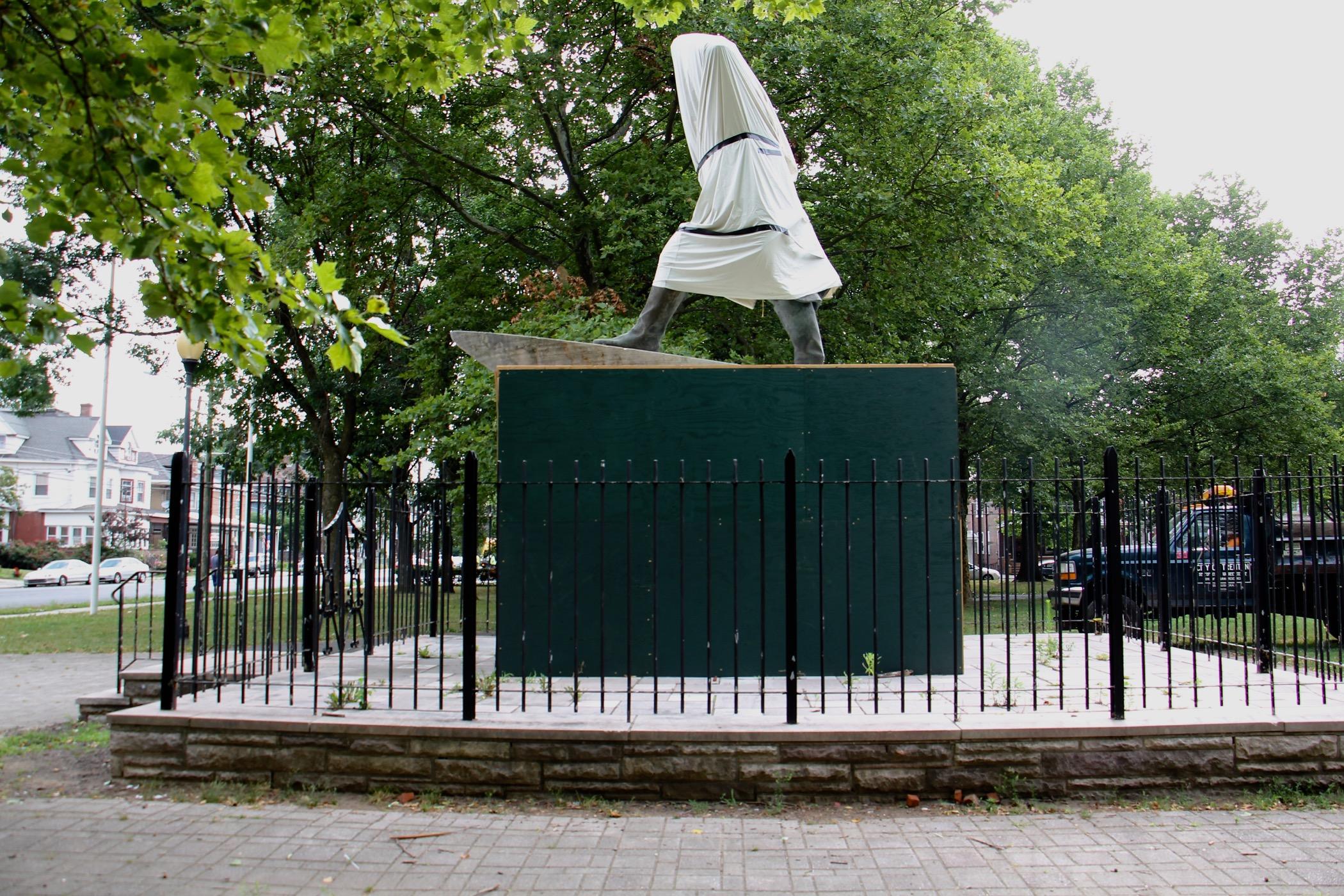 Statue of Christopher Columbus at Columbus Park in Trenton
