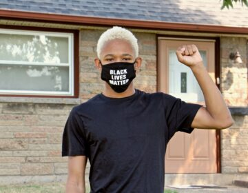 Zaire Cuspud helped lead a worker protest at a pair of Chick-fil-A franchises in Delaware County. (Emma Lee/WHYY)