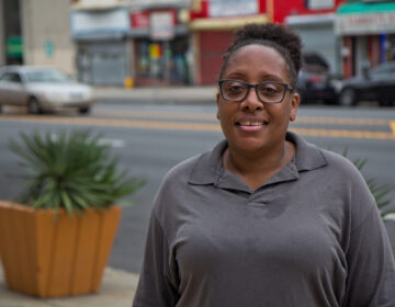 Qiana Ortiz, a mom and a customer service representative of a home improvement store, is concerned about virtual school. (Kimberly Paynter/WHYY)