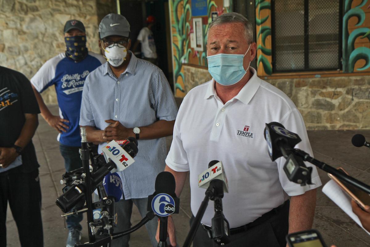 Mayor Kenney at a Philly sprayground
