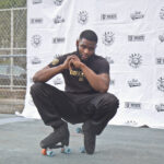 """Cohen Thompson is trying to turn West Philadelphia's Granahan Playground into """"Skate University."""" (Kimberly Paynter/WHYY)"""