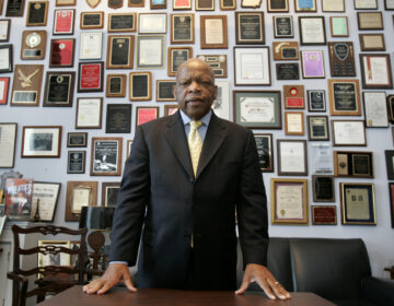 Rep. John Lewis, D-Ga., in his office on Capitol Hill