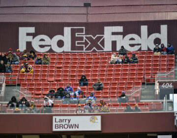 FedEx Field is less than full during the second half of an NFL football game between the Washington Redskins and the New York Giants, Sunday, Dec. 9, 2018, in Landover, Md. (AP Photo/Mark Tenally)