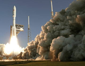 A United Launch Alliance Atlas V rocket lifts off from pad 41 at the Cape Canaveral Air Force Station Thursday, July 30, 2020, in Cape Canaveral, Fla. (AP Photo/John Raoux)