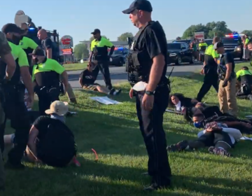 A protest near Dover on June 9 ended with the arrest of 22 people. (Del. Dept. of Justice)