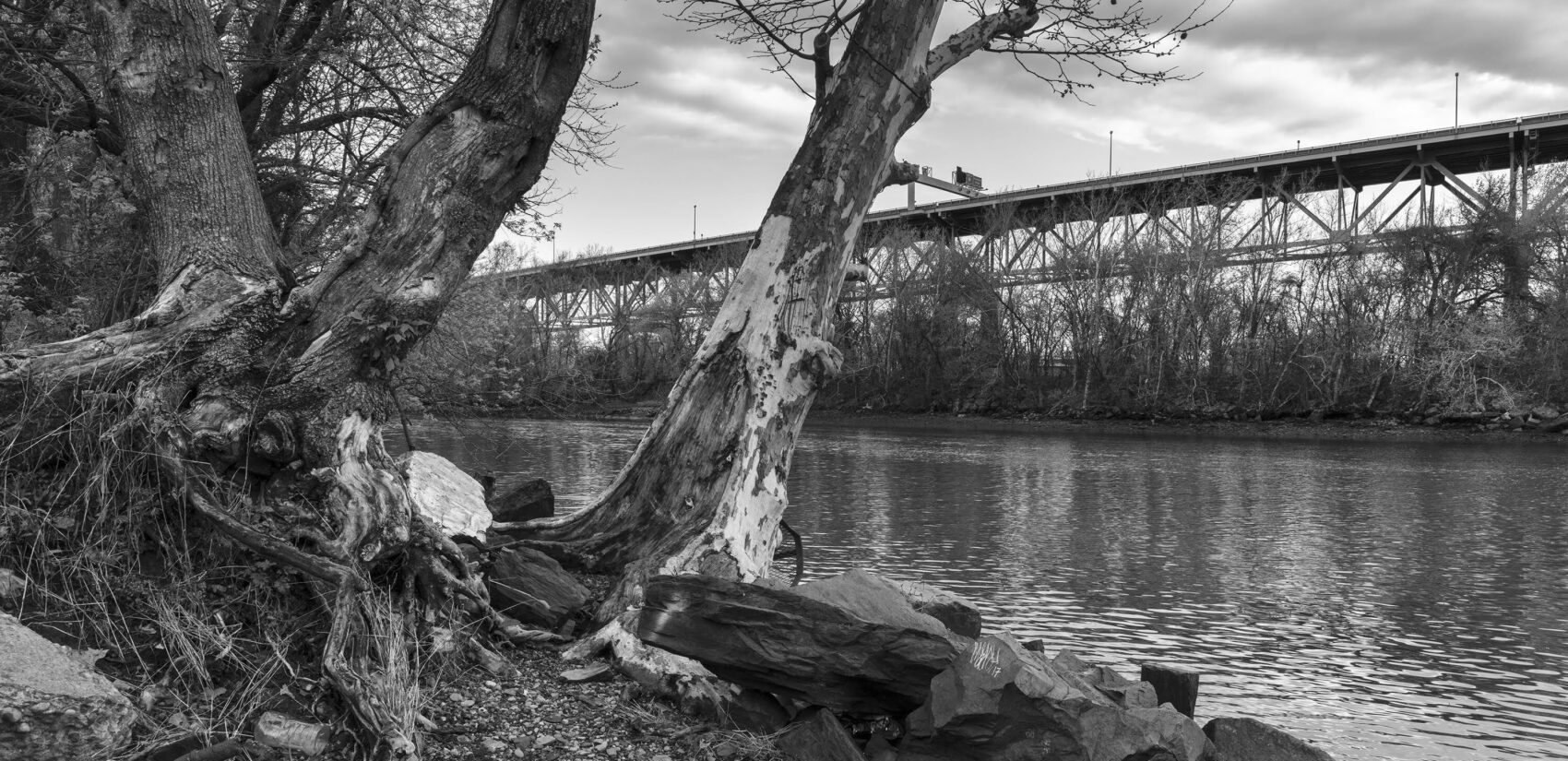 Frankford Creek and the Betsy Ross Bridge