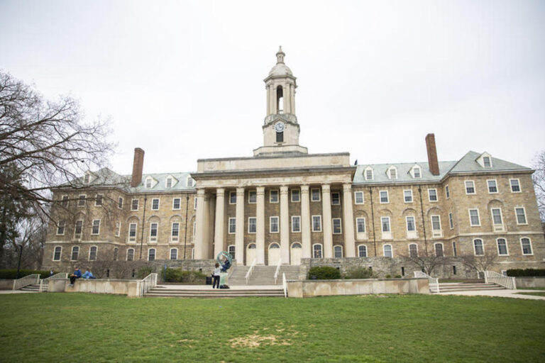 Penn State's Old Main administrative building. (Min Xian/WPSU)