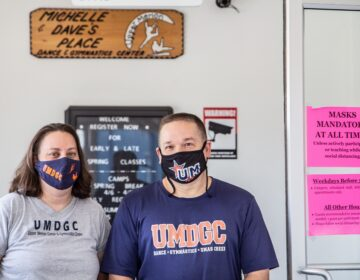 Michelle Elbin (left) and Dave Evasew, owners of the Upper Merion Dance and Gymnastics Center. (Kimberly Paynter/WHYY)