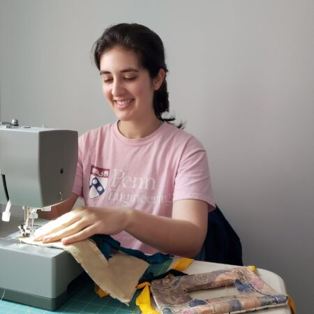 Kate Panzer sewing
