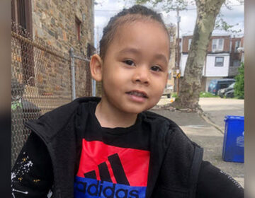 Two-year-old King Hill was reporting from his Strawberry Mansion neighborhood. (Courtesy of Philadelphia Police)