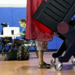 New Jersey voter casts ballot