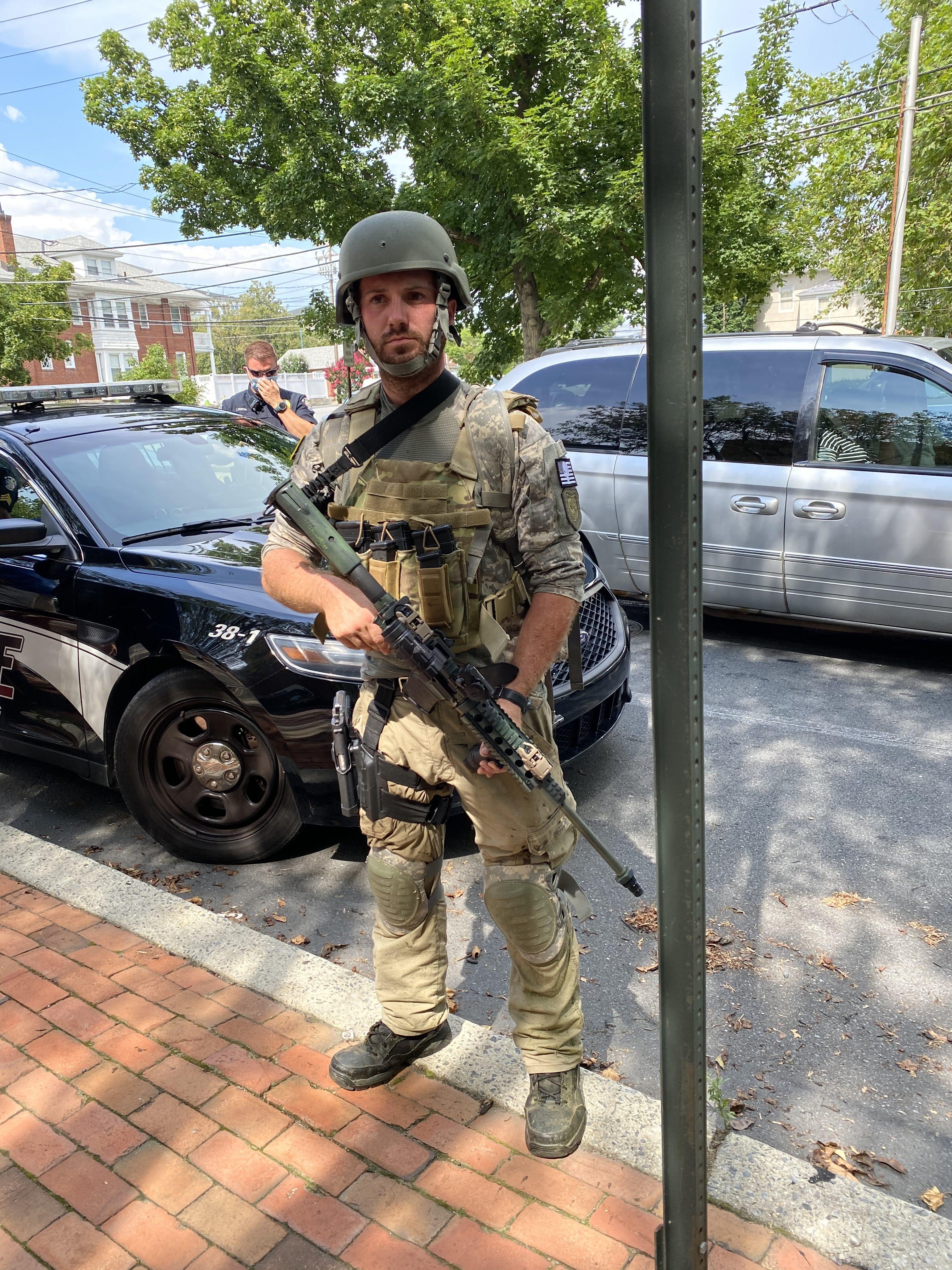 A self-described militia member