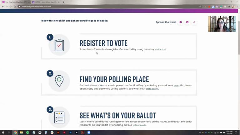 Educating Voters using Vote411