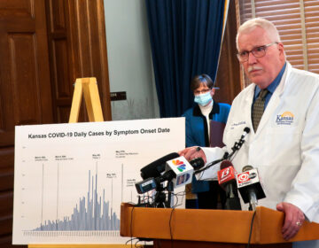 Dr. Lee Norman, secretary of the Kansas Department of Health and Environment, discussed the resurgence in coronavirus cases in the state this week. The state hospital association fears there will be delays in getting coronavirus data under new federal rules. (John Hanna/AP)