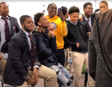 Students at Boys' Latin of Philadelphia Charter School sing together in memory of a lost friend ('OUR PHILADELPHIA')