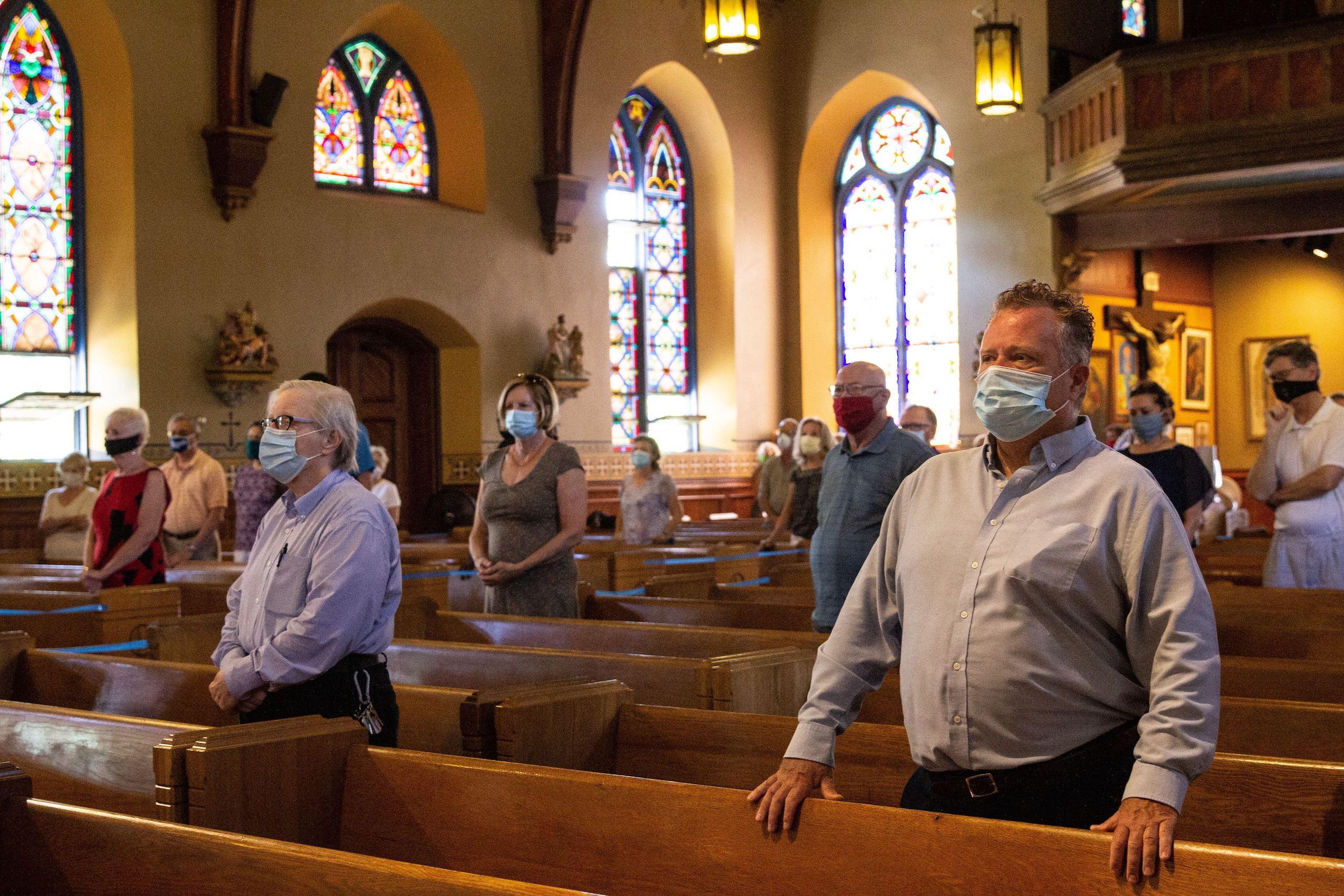 Parishioners at Sacred Heart Church in Camden, N.J.