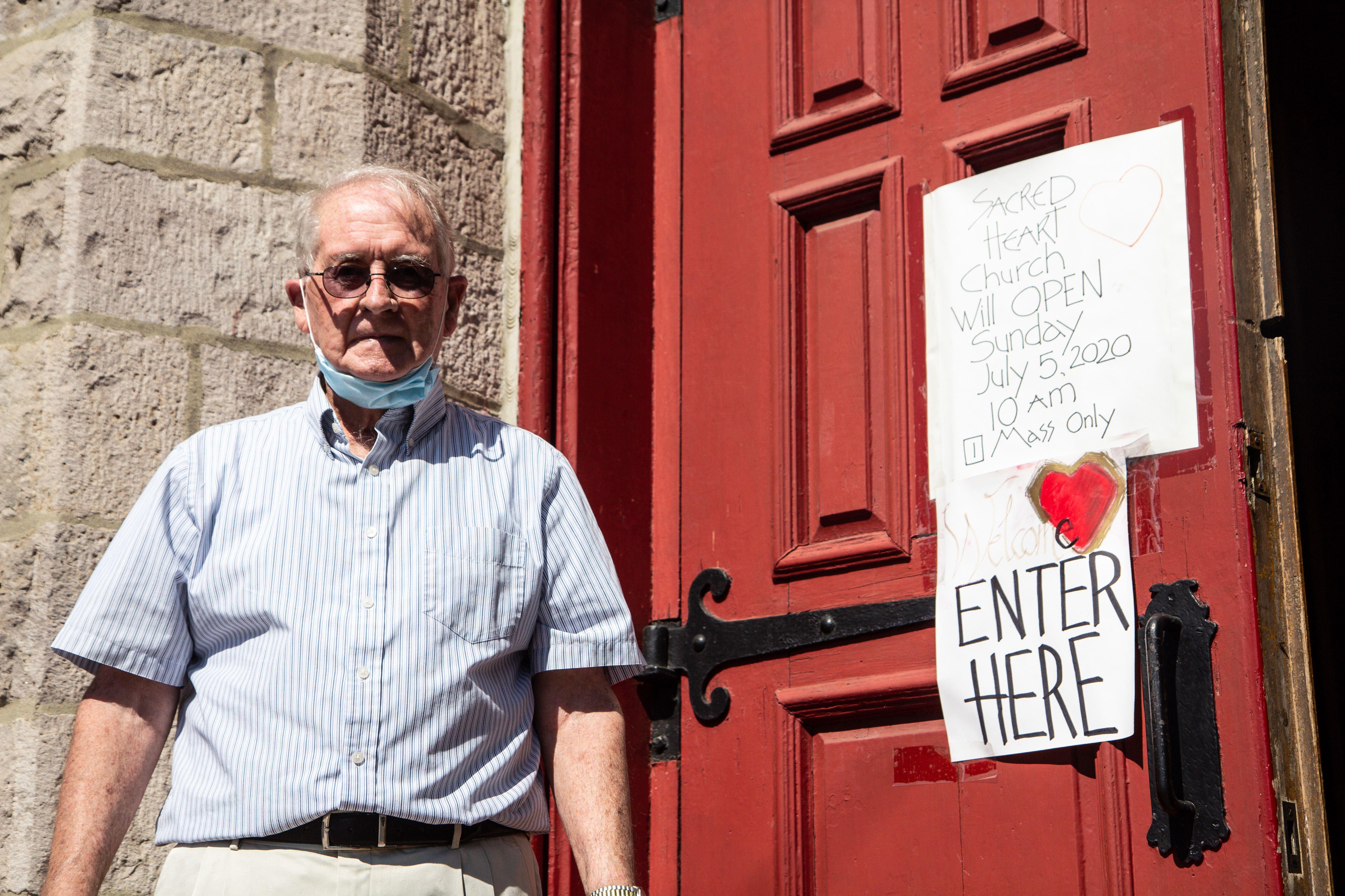 Parishioner Patrick Mulligan