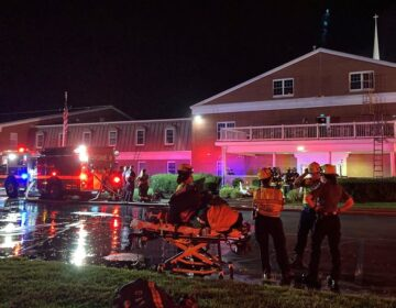 A fire was intentionally set inside Reach Church in Bear, Delaware Monday night, according to the state fire marshal's office. (courtesy Aetna Fire Company)