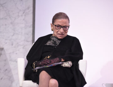 Supreme Court Justice Ruth Bader Ginsburg at an award ceremony in February in Washington, D.C. (Dimitrios Kambouris/Getty Images for DVF)