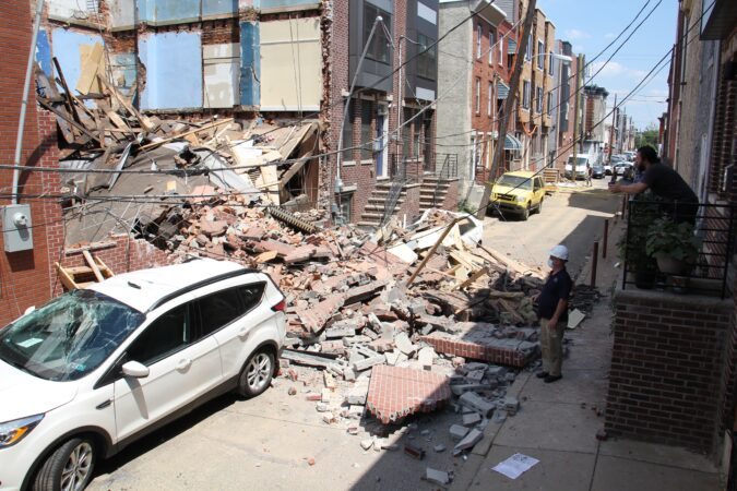 Mercy Street rowhouses collapse