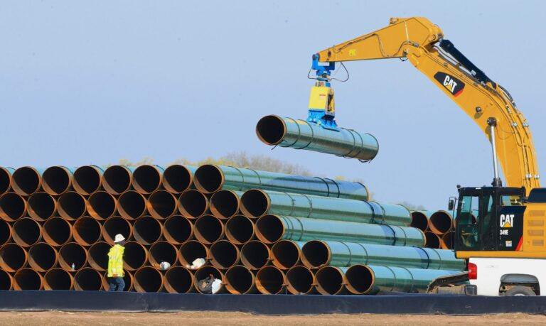 Pipes for the proposed Dakota Access Pipeline
