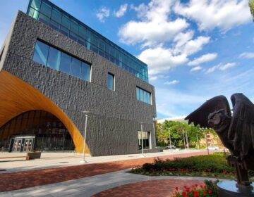 The new Charles Library on Temple University's main campus in North Philadelphia. (Mark Henninger/Imagic Digital)