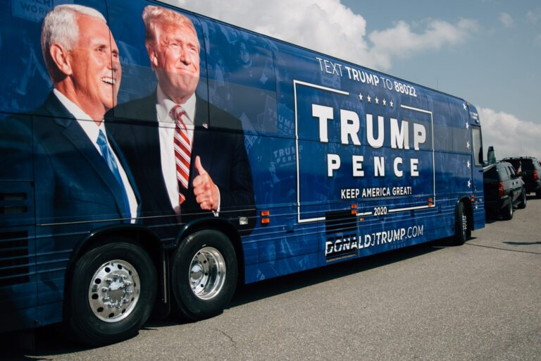 Trump-Pence 2020 campaign bus
