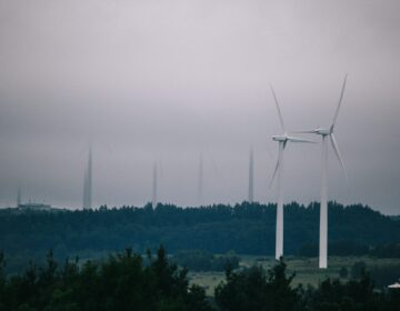 A wind energy farm in Somerset County. (Tim Lambert / WITF)