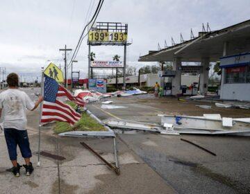 Hurricane Laura moves through Louisiana