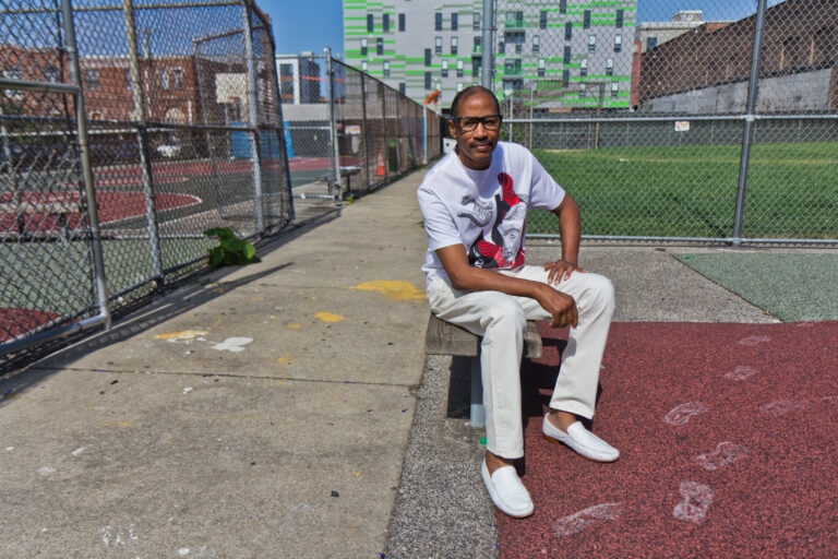 "Darryl ""Cornbread"" McCray started writing graffiti in his Philadelphia neighborhood in the 1960s. (Kimberly Paynter/WHYY)"