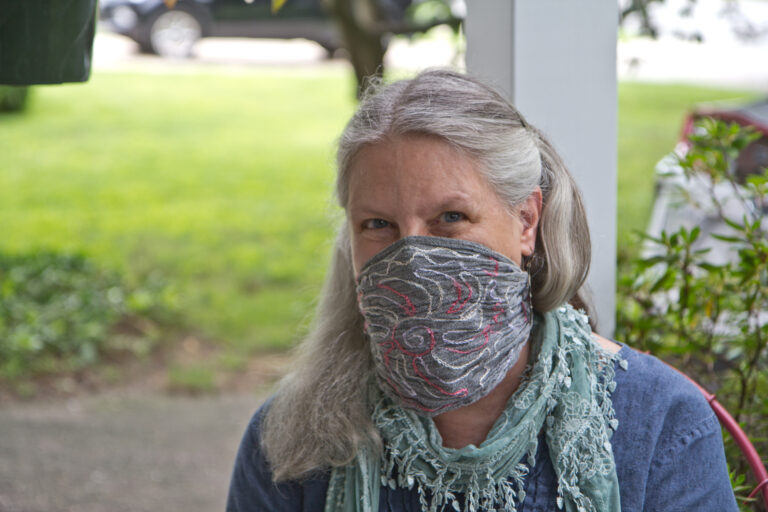 Deb Lemieur is a Temple professor who's been against in person classes since the pandemic began. (Kimberly Paynter/WHYY)