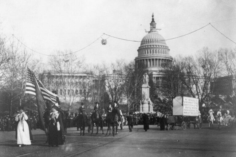 Women's suffrage parade